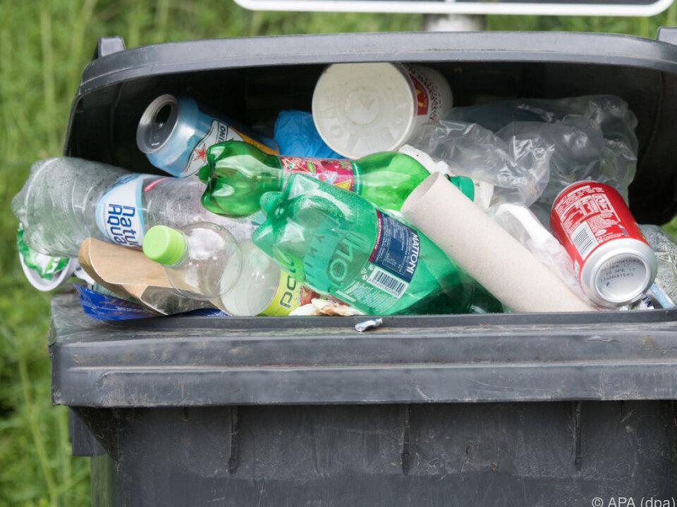 müll Verpackungen aus Kunststoff dominieren