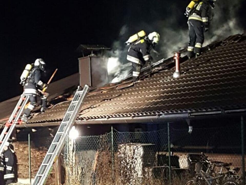 Feuerwehr Stegen Brand