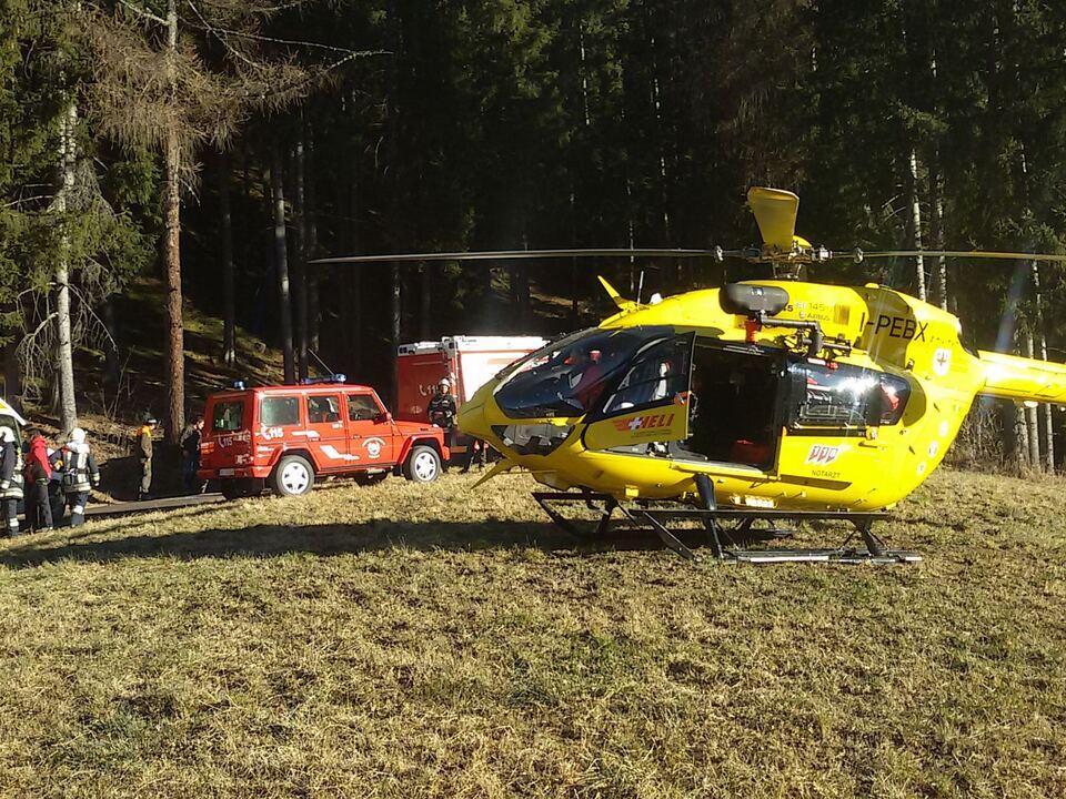 Unfall Mühlwald Feuerwehr Pelikan