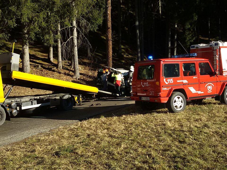 Unfall Mühlwald Feuerwehr