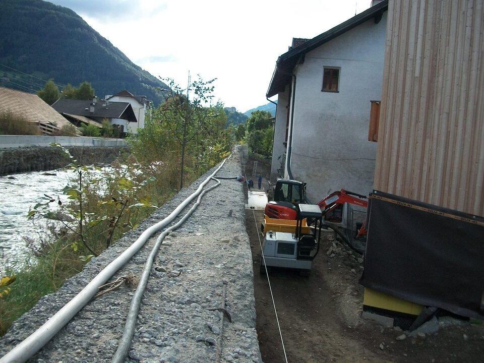 Eisack Sterzing Wildbachverbauung