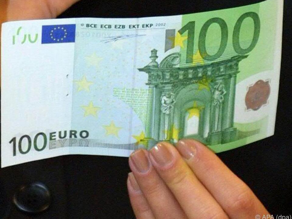 Die 100 Euro sollen direkt im Geldbörserl ankommen