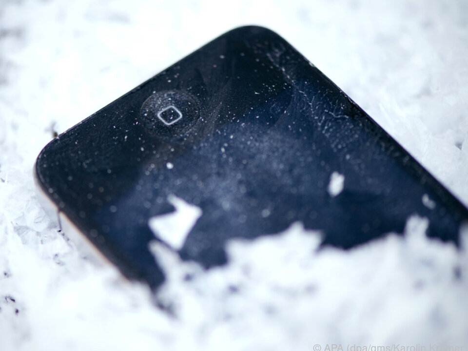 Eisige Kälte kann ein Smartphone gehörig  in Mitleidenschaft ziehen