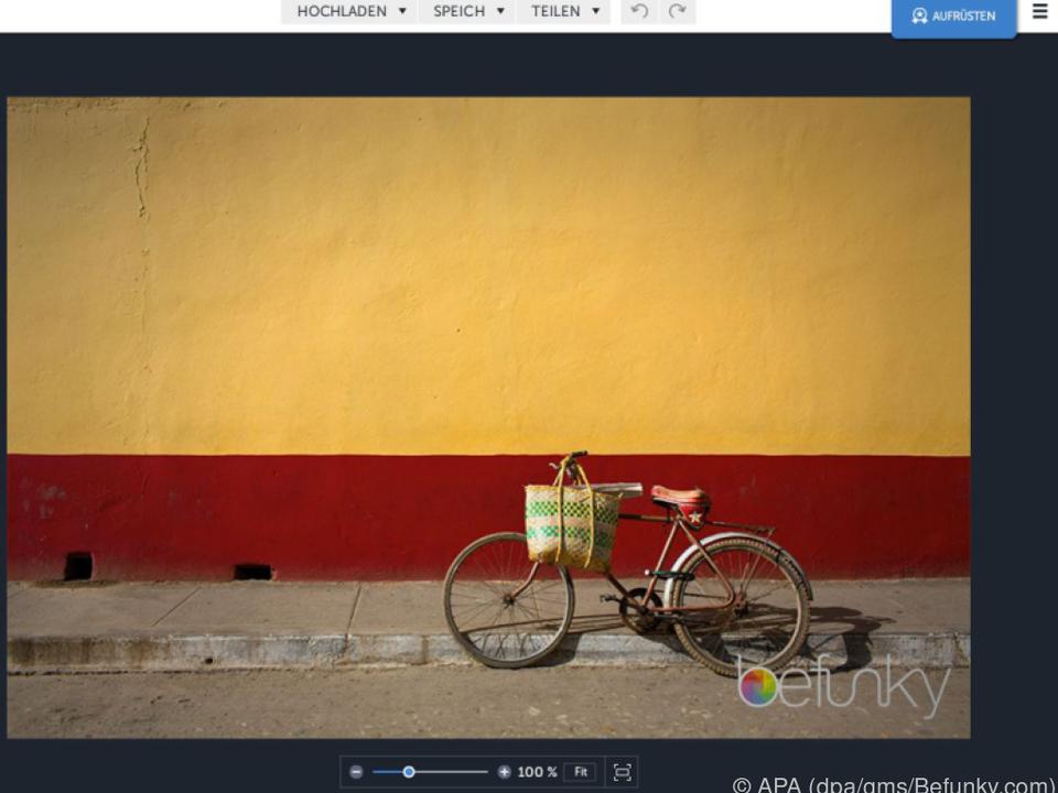 Fotos online bearbeiten mit Befunky.com