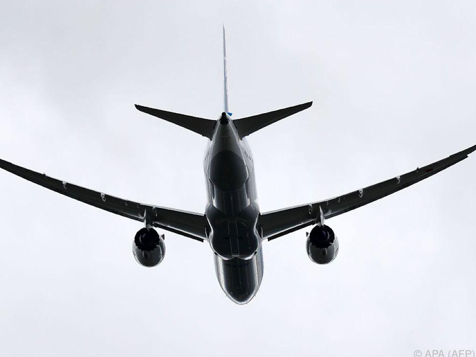 flugzeug Geflogen wird mit einer Boeing 787 Dreamliner
