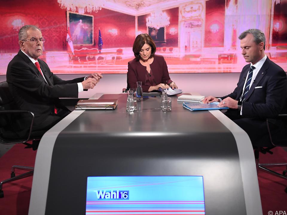 ORF-Moderatorin Thurnher hatte zwei streitlustige Männer zu Gast