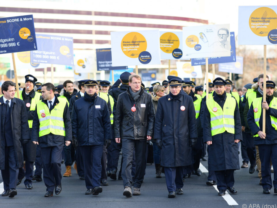 Piloten setzen Streik bei der Lufthansa fort