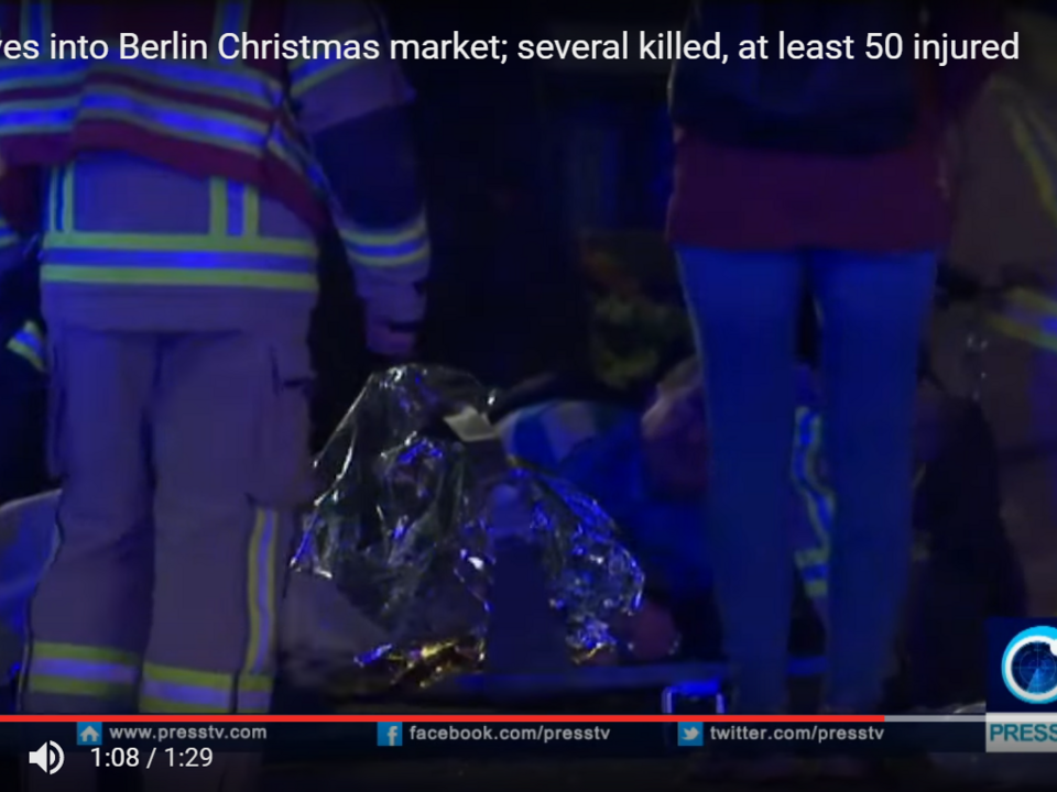 YouTube/PressTV News Videos -Truck drives into Berlin Christmas market; several killed, at least 50 injured