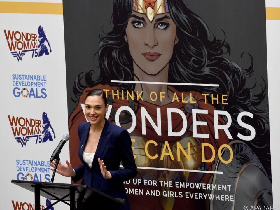 Wonder-Woman-Darstellerin Gal Gadot bei der UN-Zeremonie