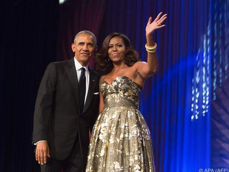 Barack und Michelle Obama kamen nicht nur bei den Stars gut an