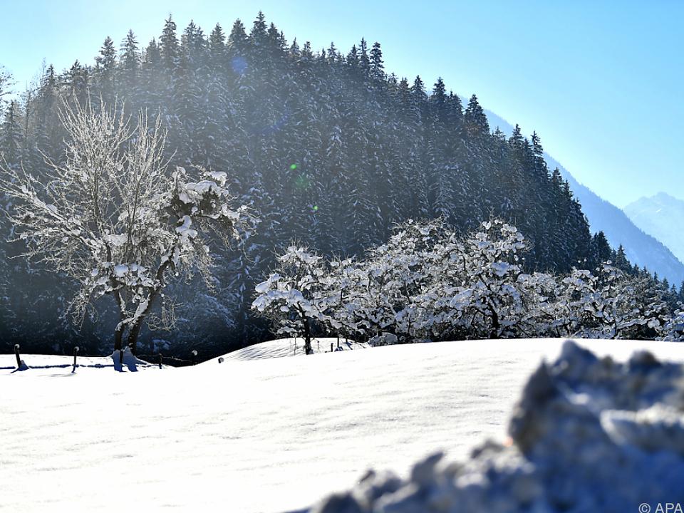 Der Jänner 2017 war sehr kalt, trocken und sonnig schnee winter