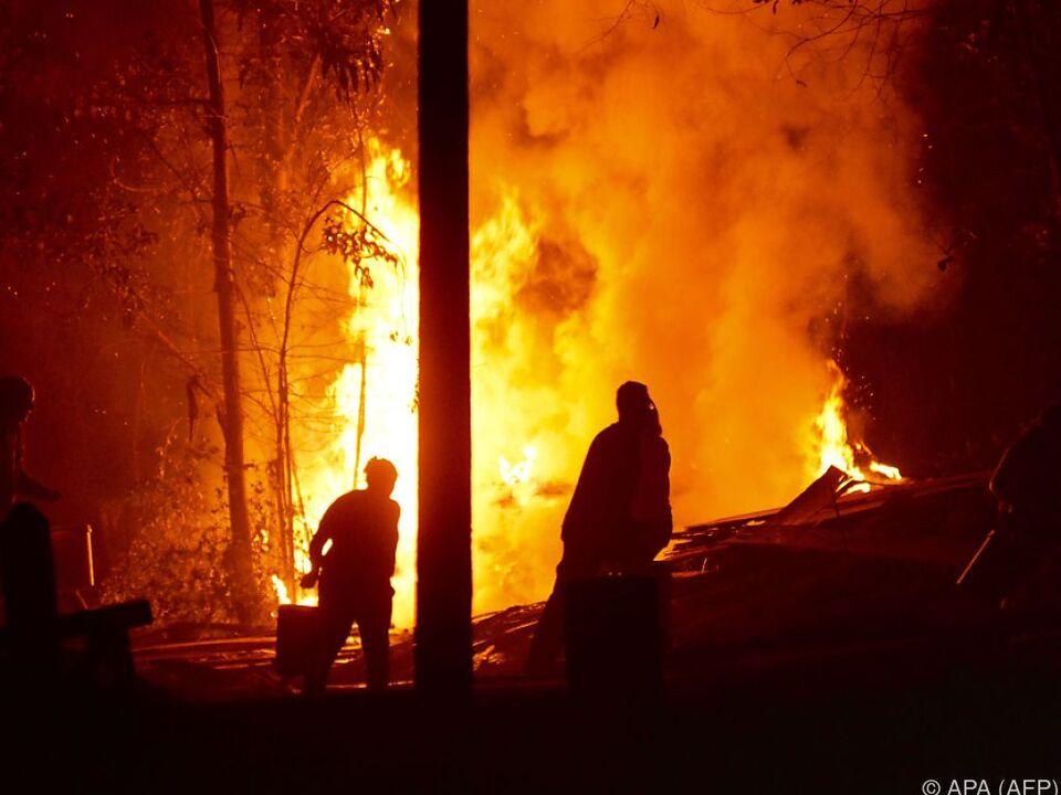 Die Waldbrände sind außer Kontrolle