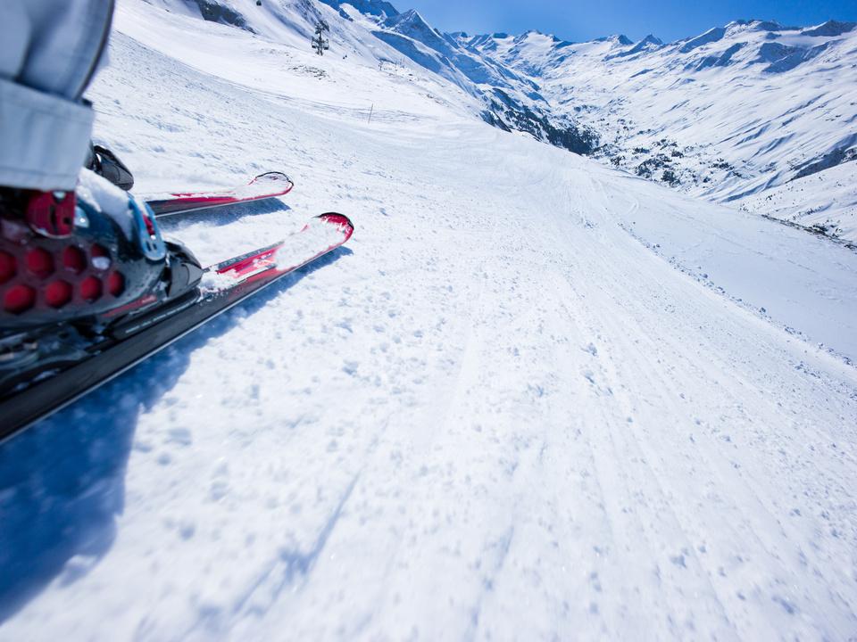 ski skirennen symbol schnee winter sport