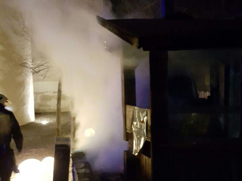 Innichen Brand Holzofen Nacht