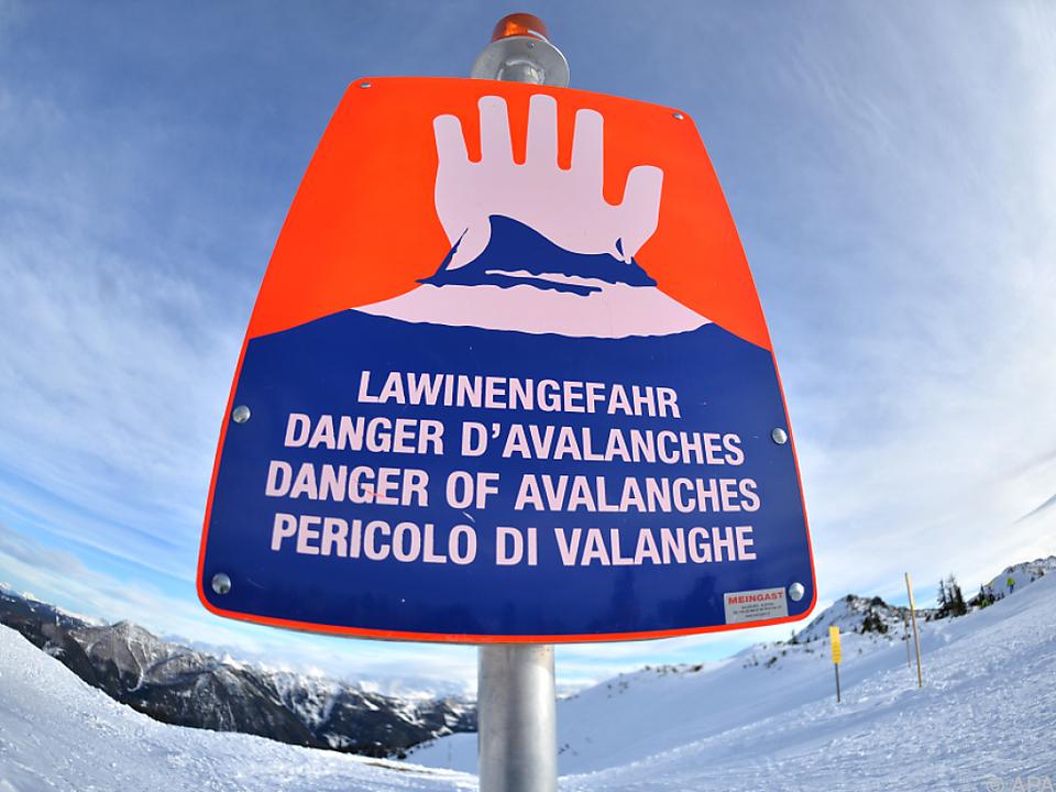Lawinenwarnung gilt in Tirol, Vorarlberg und NÖ