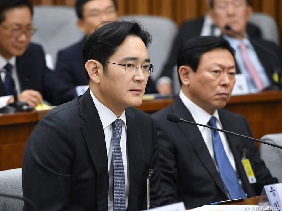 Lee Jae-yong bei seiner Befragung