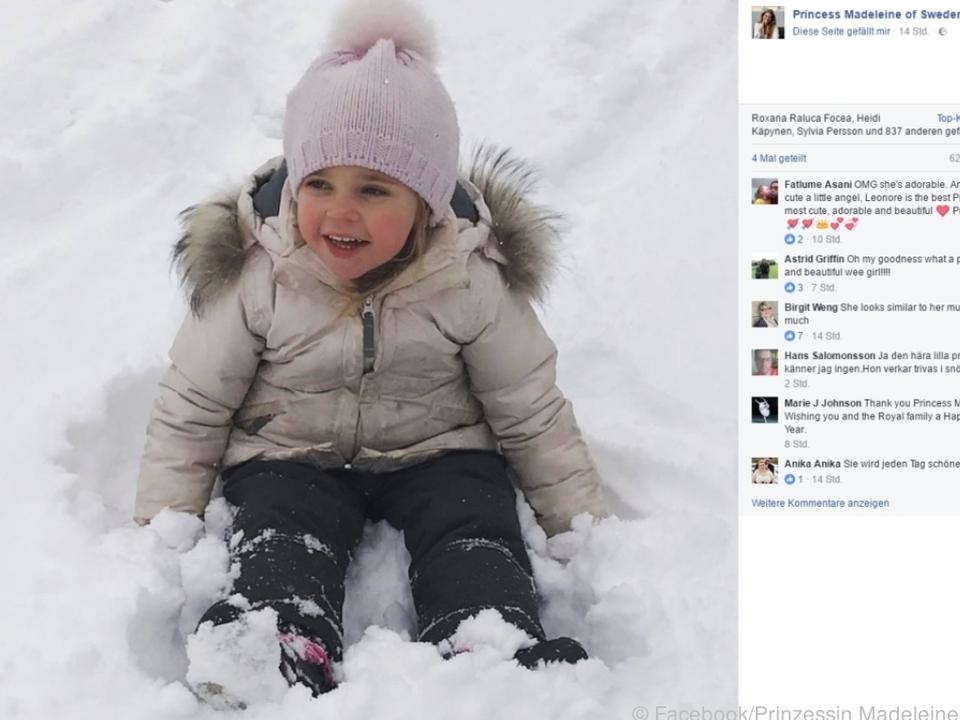 Neujahrsgrüße aus den Schweizer Bergen auf Facebook