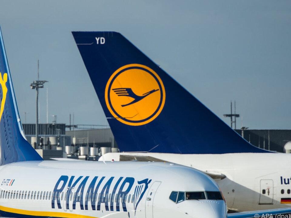 Ryanair hatte 2016 die Nase erstmals vorn
