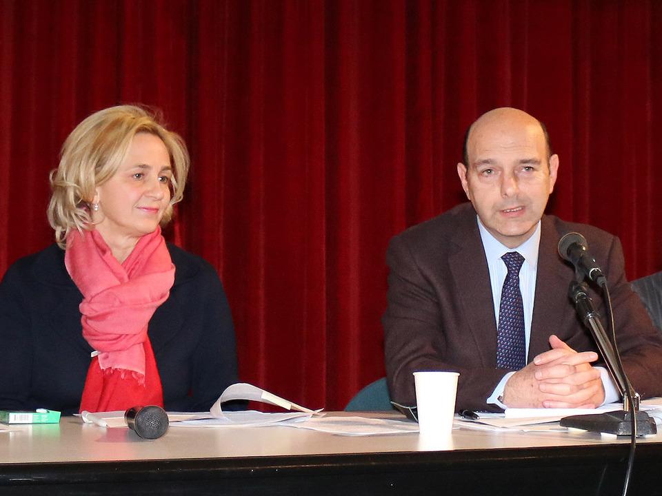Stadträtin Strohmer und Stadtrat Zaccaria