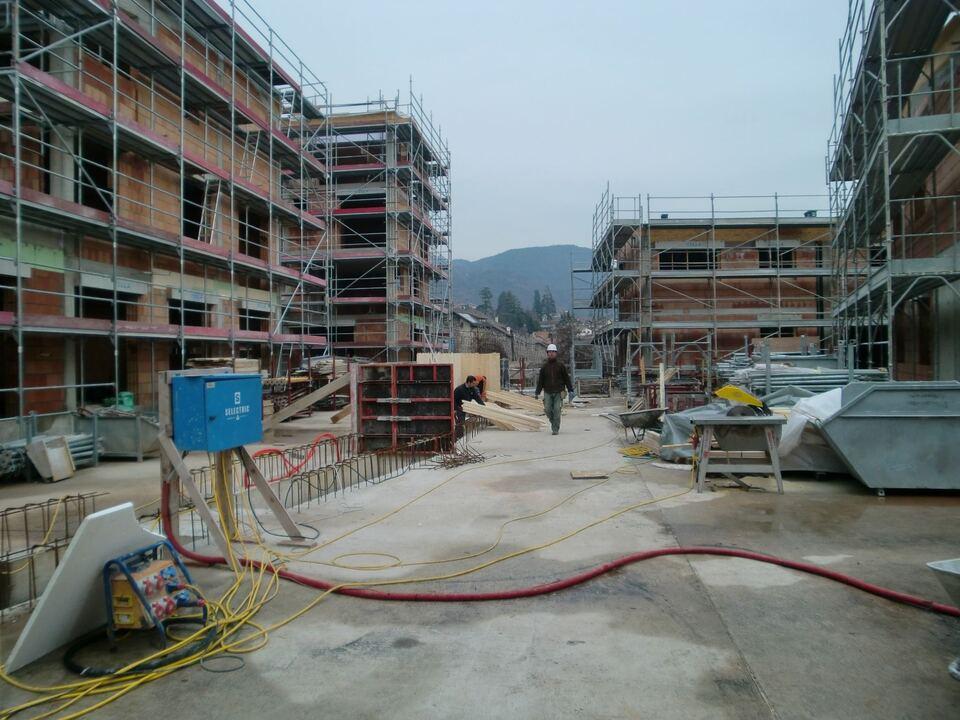 Baustelle, Rohbau, Wohnbauzone