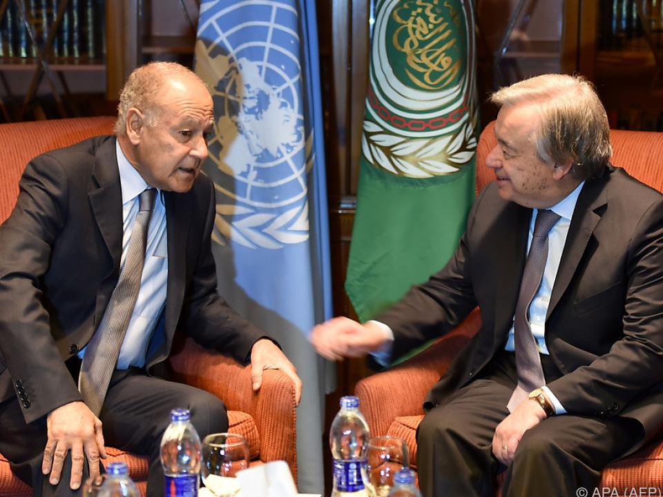 Die Arabische Liga betonte die Notwendigkeit der Zwei-Staaten-Lösung