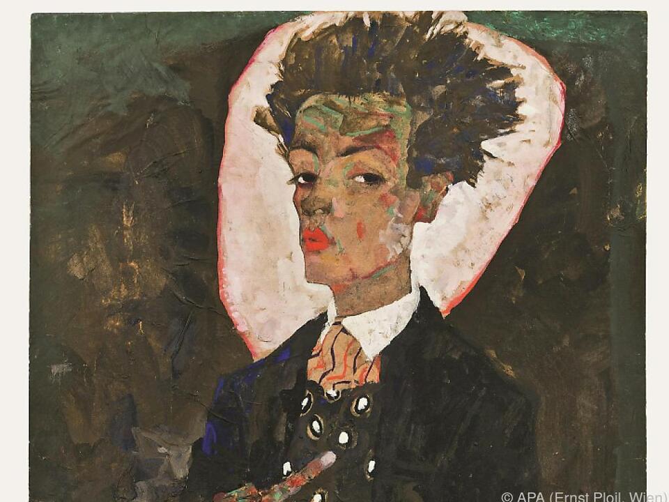Egon Schieles Selbstbildnis mit Pfauenweste, 1911