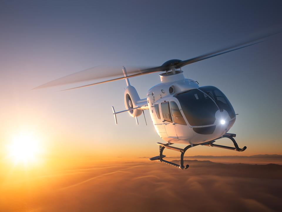 hubschrauber Helicopter Sunset Flight 2
