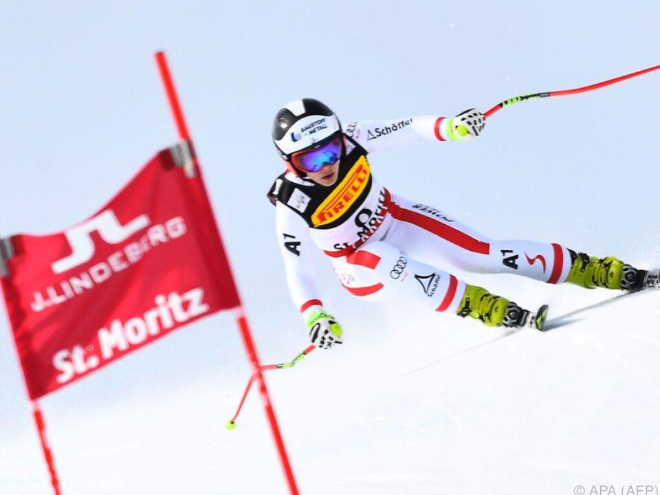 Schmidhofer auf dem Weg zu ihrer Goldmedaille