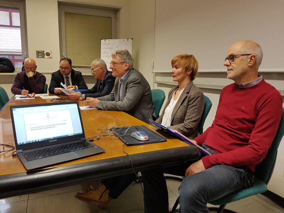 v.l Vincenzo Capellupo, Christian Kofler, Umberto Tait, Thomas Schael, Marianne Siller, Thomas Lanthaler