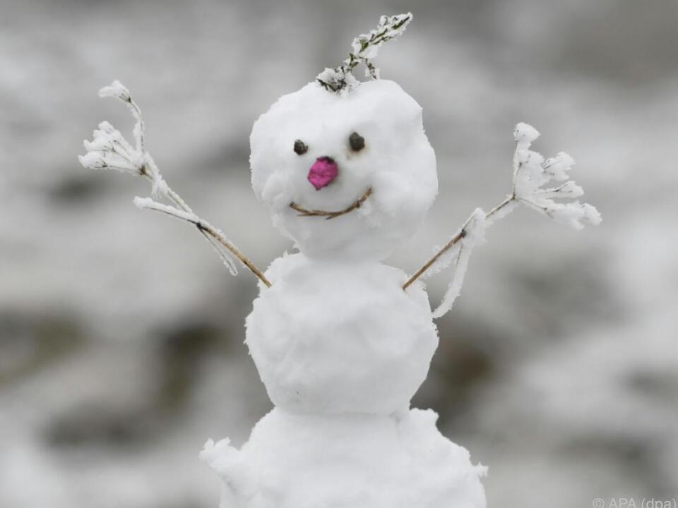 Wird er das Wochenende überstehen? winter schnee