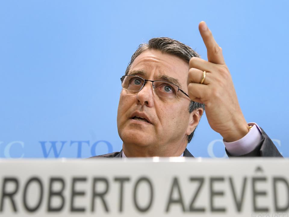 Zeigefinger des WTO-Chefs ist in Richtung Trump erhoben