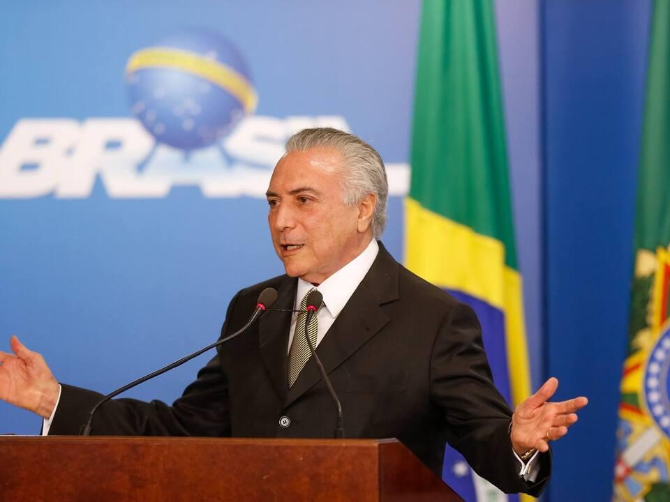 Präsident Brasilien Michel Temer