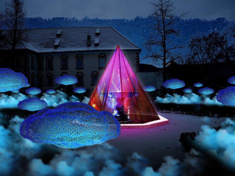 Wasser Licht Festival Brixen HERRENGARTEN