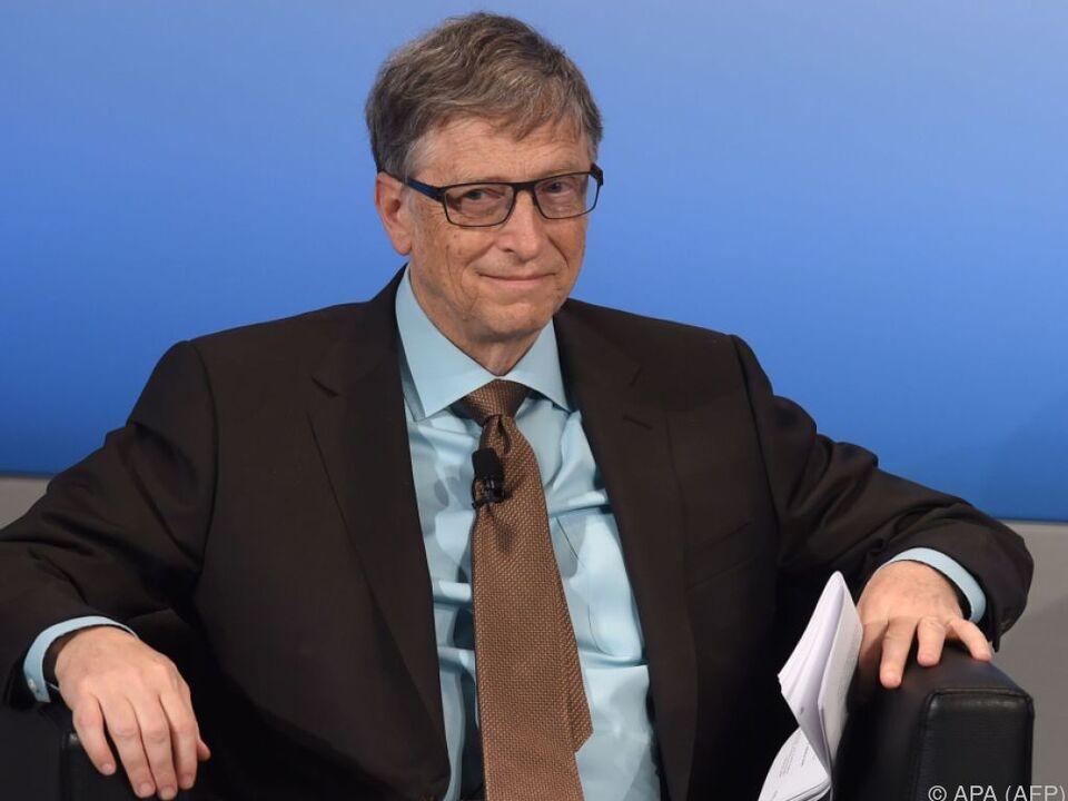 Bill Gates kann über Geldmangel auch weiterhin nicht klagen