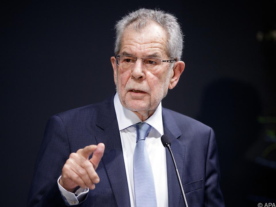 Bundespräsident Van der Bellen will sich derzeit nicht zu Wort melden