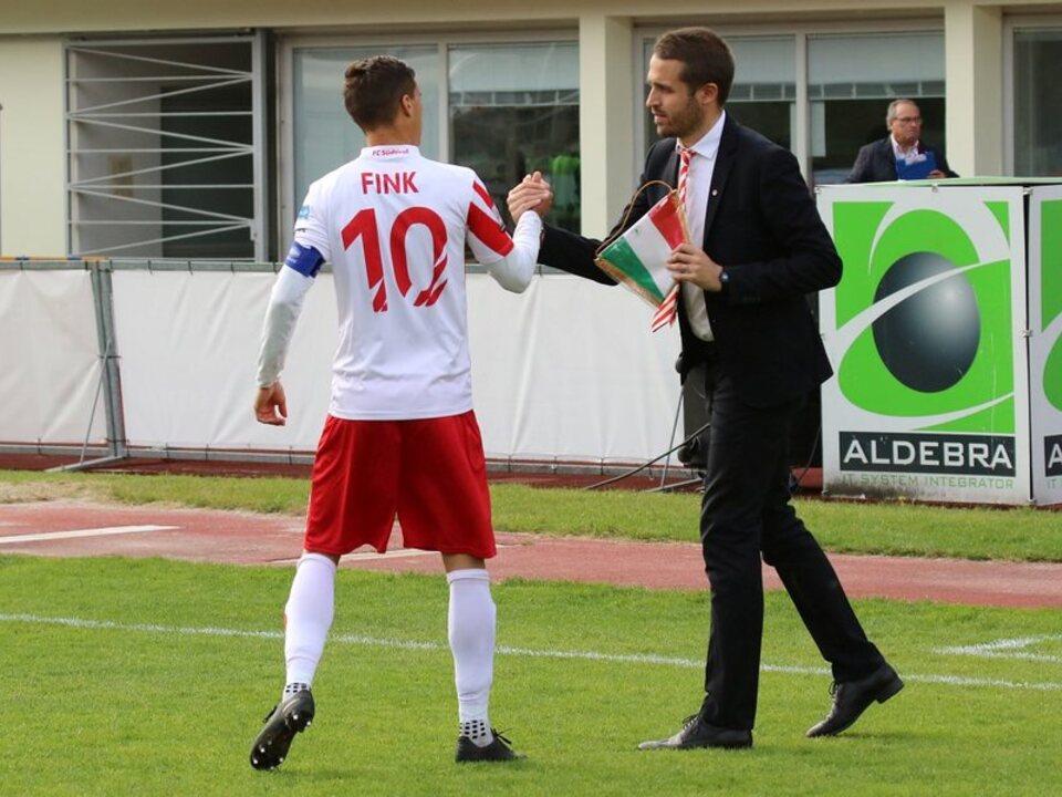 FCS Kapitän Fink mit Teammanager Emiliano Bertoluzza