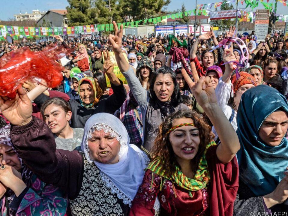 Demo in der Türkei am Weltfrauentag