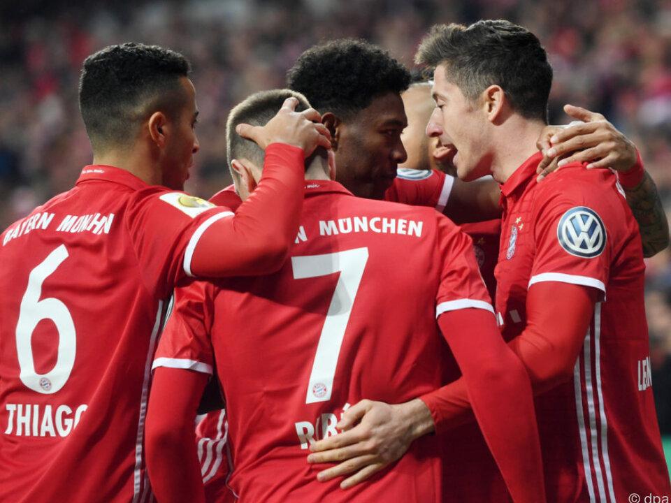 Die Bayern stehen in der Runde der letzten Vier