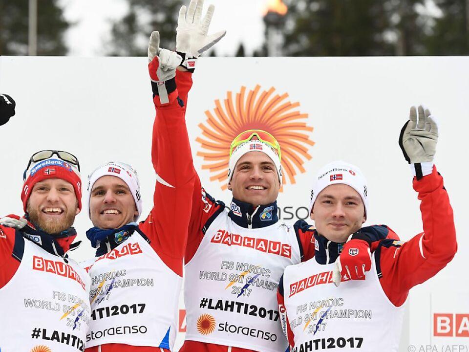 Die Norweger dominieren in der Herren-Staffel seit 2001