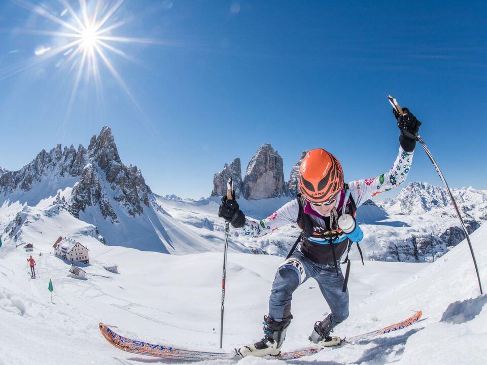 Leitwolf Prinoth drei zinnen marathon ski
