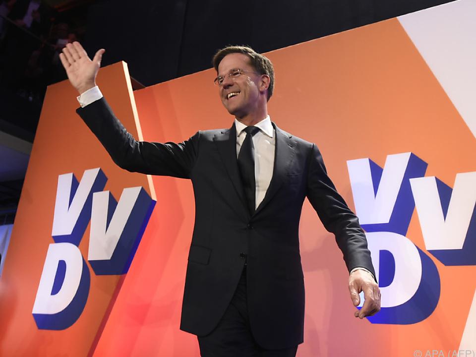 Erleichterung bei Wahlsieger Mark Rutte