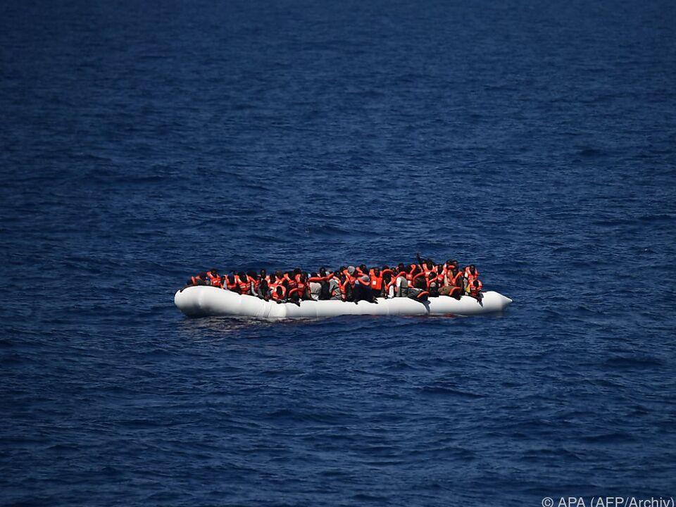 Flüchtlinge geraten oft in Seenot