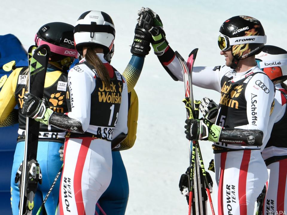 Gegen Schweden gab es für das ÖSV-Quartett nichts zu holen