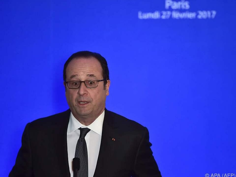 Hollande sorgt sich um Frankreich