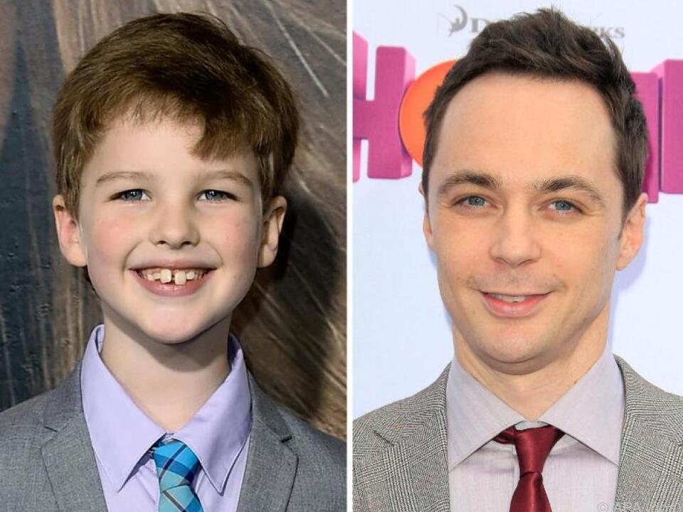 Iain Armitage spielt den jungen, Jim Parsons den alten Sheldon Cooper