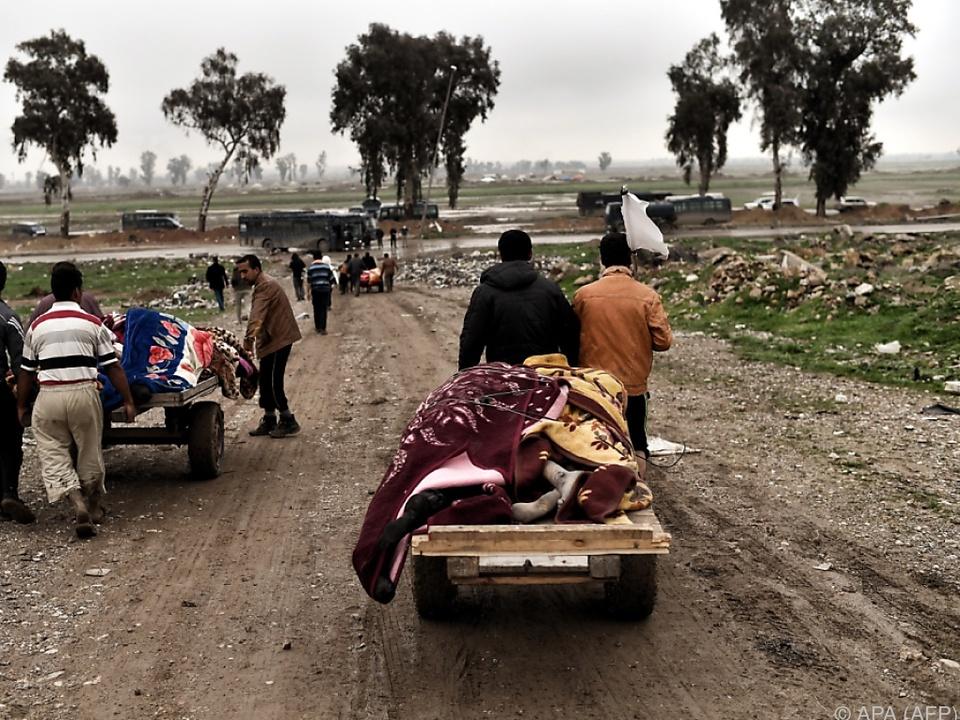 Immer mehr Menschen flüchten aus Mosul