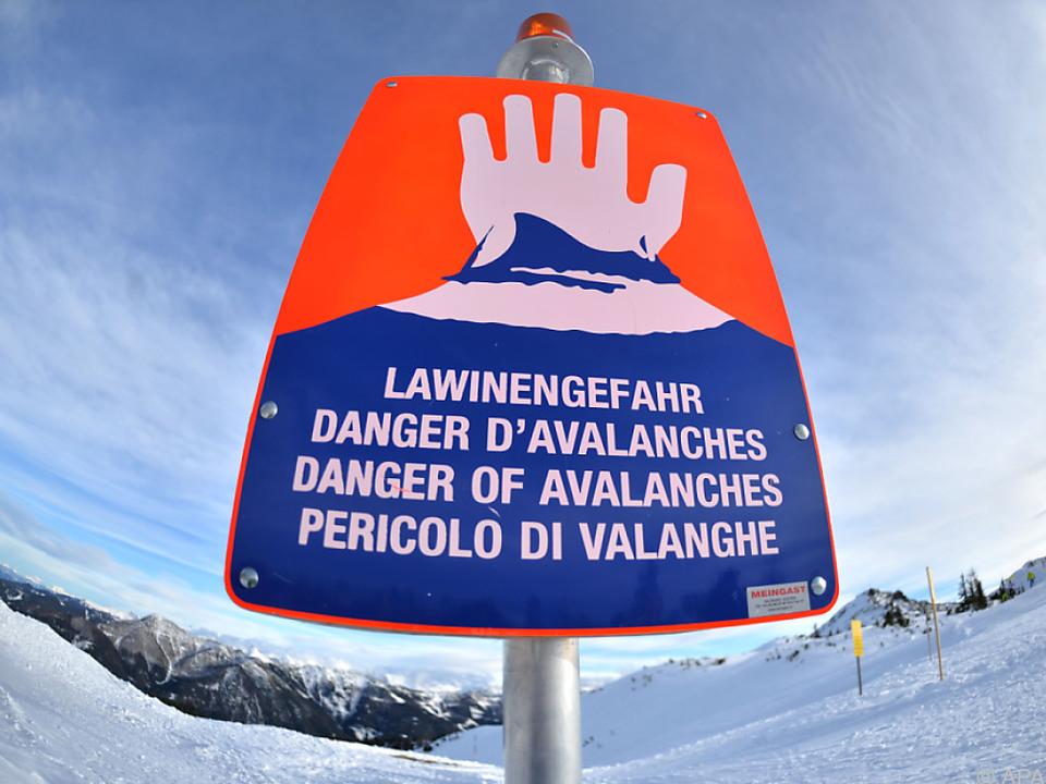 In Tirol und Vorarlberg herrscht Lawinenwarnstufe \