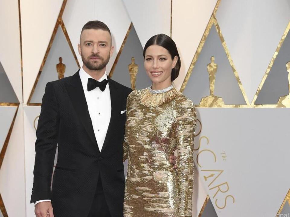Jessica Biel an der Seite ihres Ehemanns Justin Timberlake