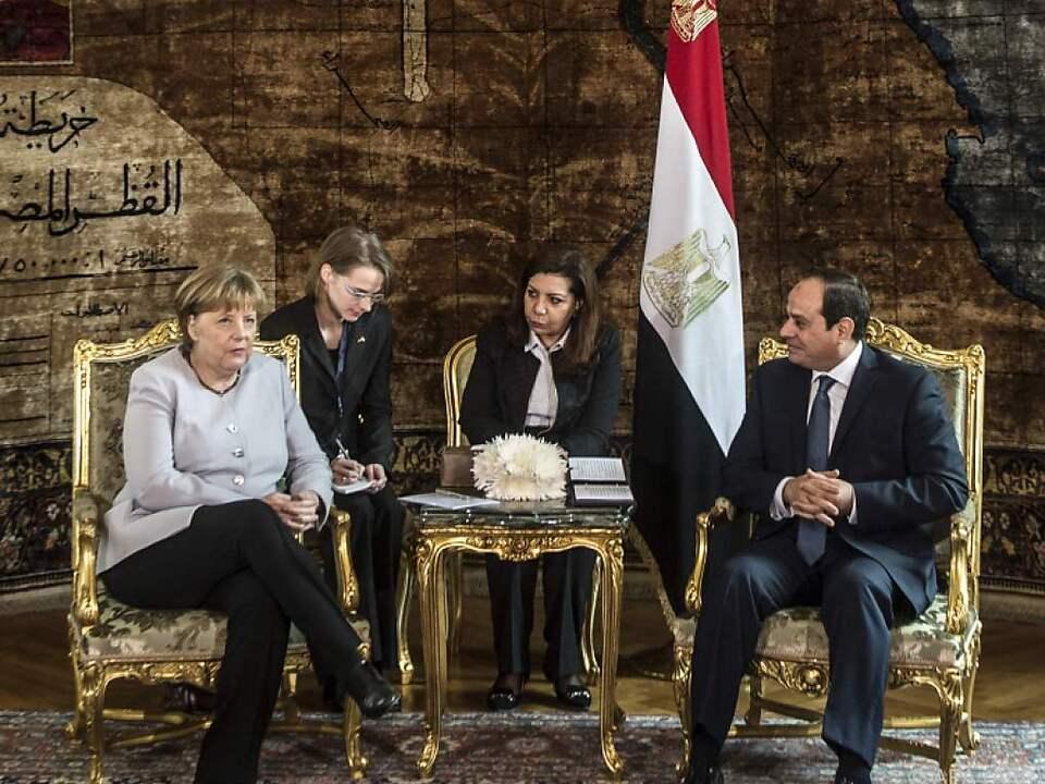 Merkel traf Präsident al-Sisi