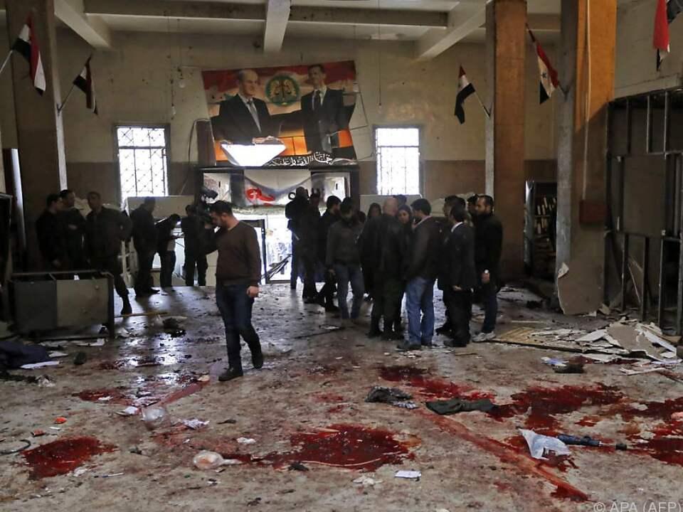 Mindestens 39 Personen starben im Justizpalast von Damaskus